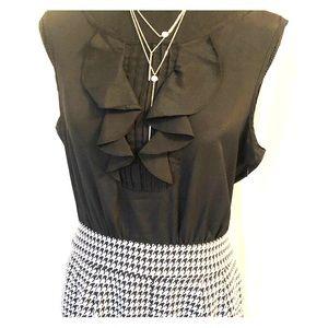 The Limited Sz 10 Black dress short sleeve
